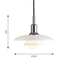 Ph 3 2 suspension  suspension pendant light  louis poulsen 5741097513   design signed 58450 thumb