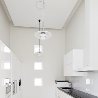 pendant light ph 32 suspension white chrome led 29cm h242cm louis poulsen - Suspension Design Led