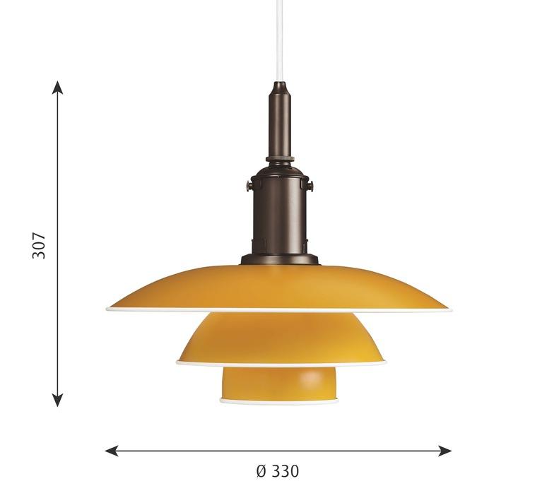 Ph 3 3 poul henningsen suspension pendant light  louis poulsen 5741094817  design signed nedgis 82297 product
