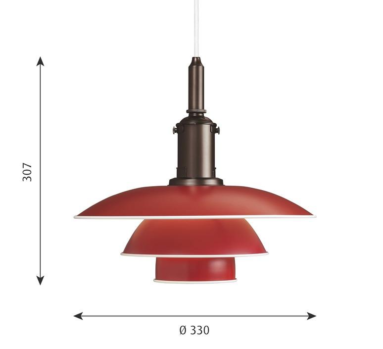 Ph 3 3 poul henningsen suspension pendant light  louis poulsen 5741094820  design signed nedgis 82305 product