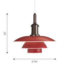 Ph 3 3 poul henningsen suspension pendant light  louis poulsen 5741094820  design signed nedgis 82305 thumb