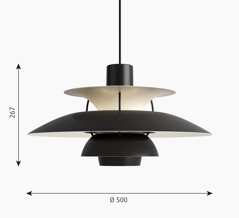 Ph 5 poul henningsen suspension pendant light  louis poulsen 5741104626  design signed nedgis 117323 product