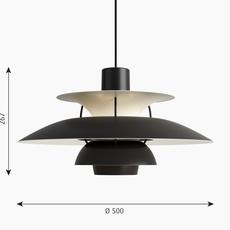 Ph 5 poul henningsen suspension pendant light  louis poulsen 5741104626  design signed nedgis 117323 thumb
