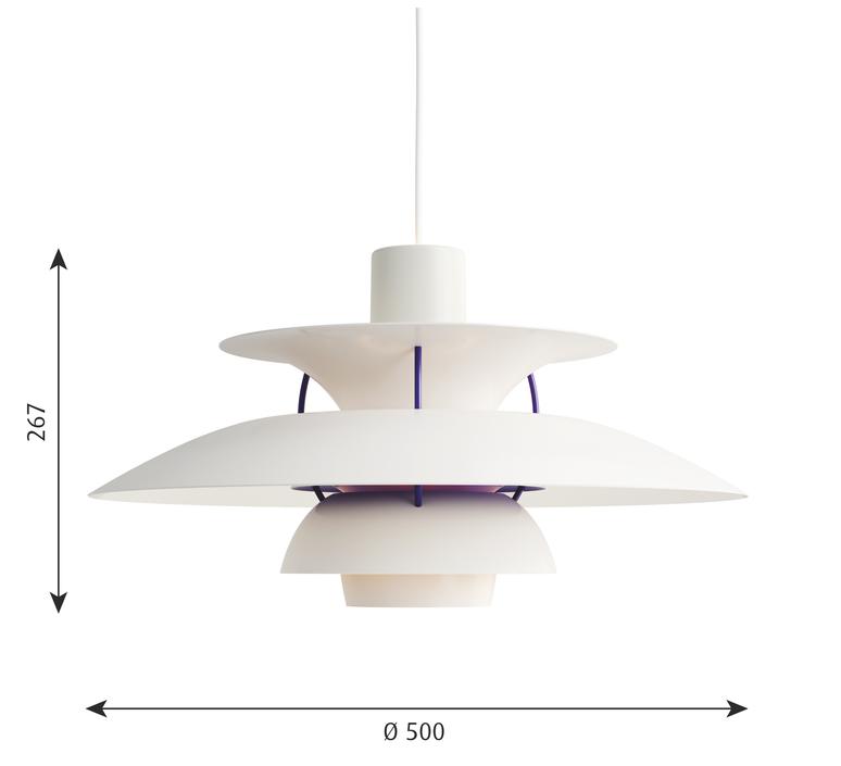Ph5  poul henningsen suspension pendant light  louis poulsen 5741099870  design signed 48940 product