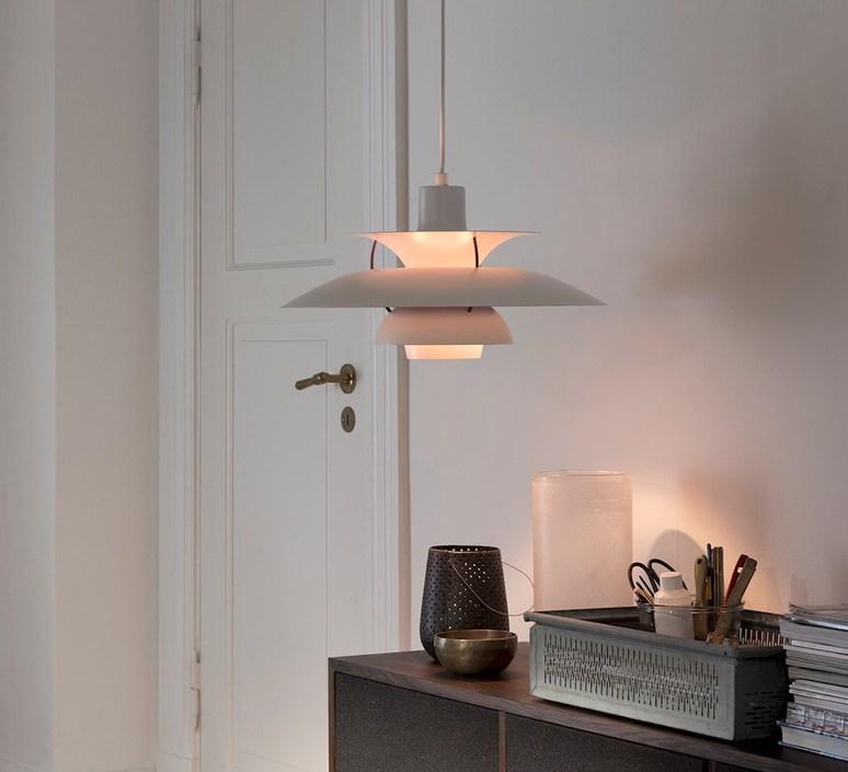 Strålende Pendant light, PH5 , white, Ø50cm, H27,7cm - LOUIS POULSEN OF-55