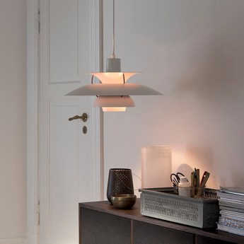 Pendant Light Ph5 White O50cm H27 7cm Louis Poulsen
