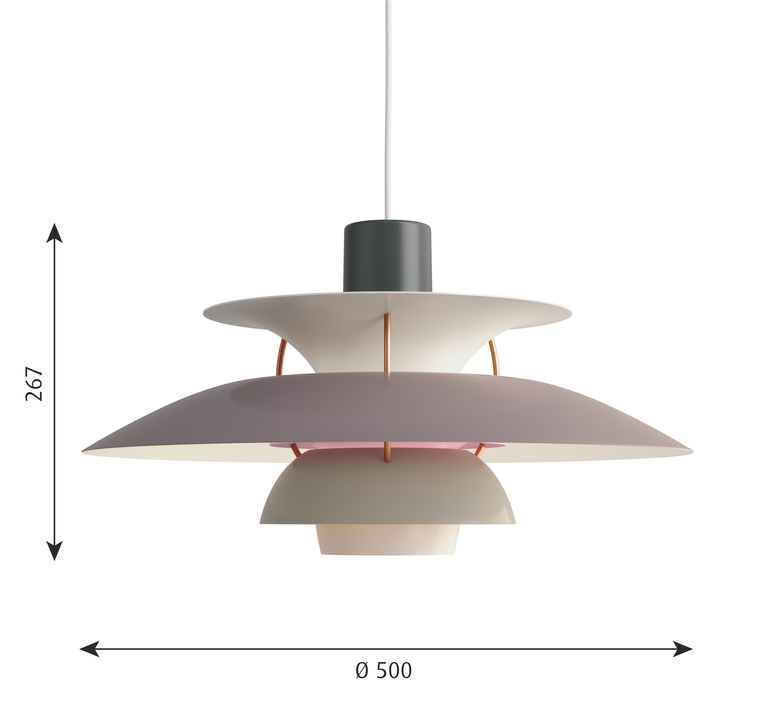 Ph5 poul henningsen suspension pendant light  louis poulsen 5741099809  design signed 48945 product