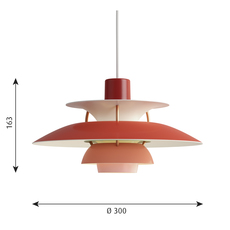 Ph5 mini poul henningsen suspension pendant light  louis poulsen 5741095104  design signed 48649 thumb
