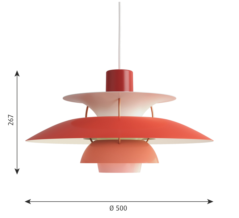 Ph5 poul henningsen suspension pendant light  louis poulsen 5741099825  design signed 48960 product