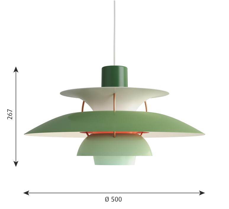 Ph5  poul henningsen suspension pendant light  louis poulsen 5741099838  design signed 48964 product