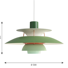 Ph5  poul henningsen suspension pendant light  louis poulsen 5741099838  design signed 48964 thumb