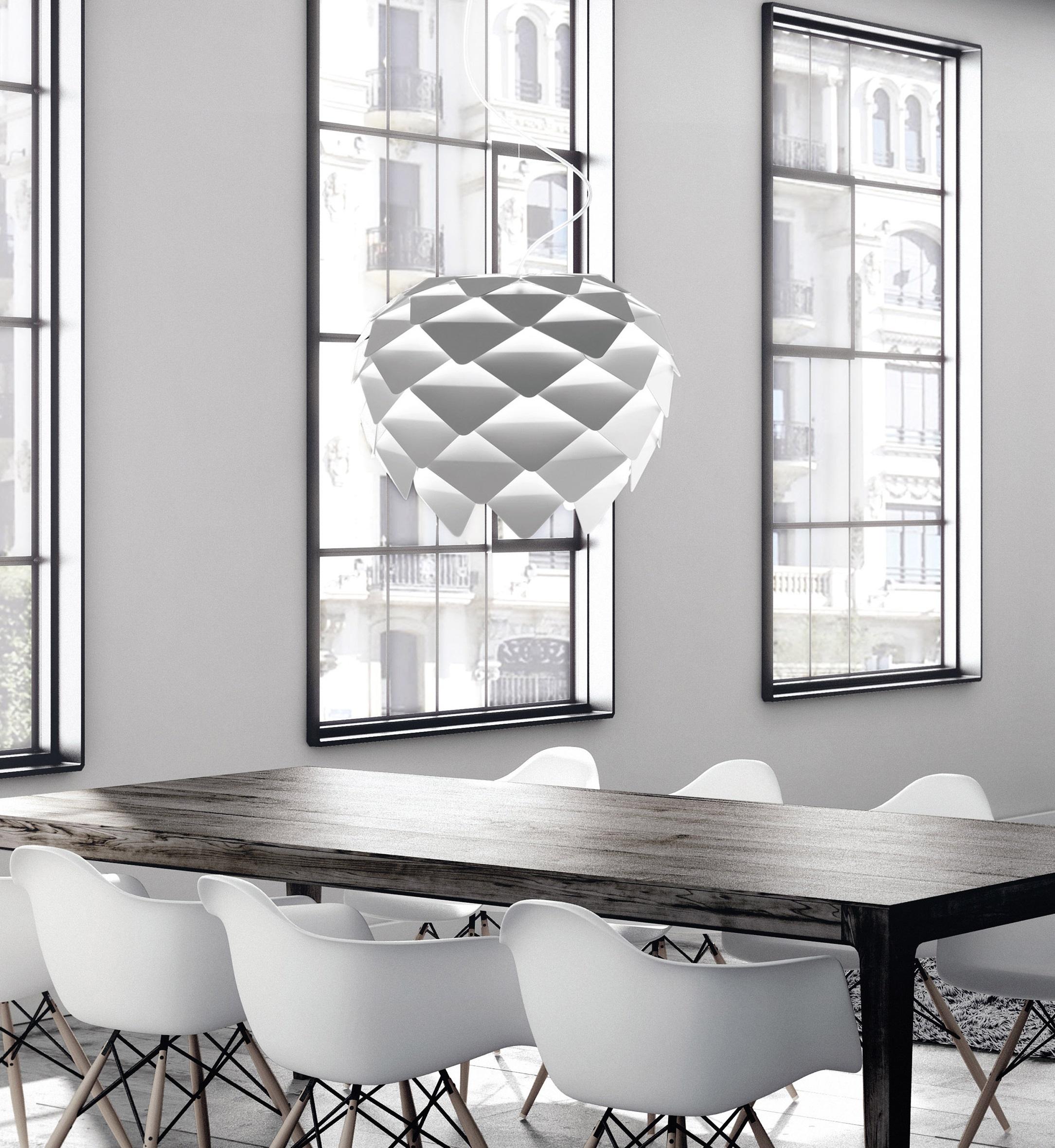 Pendant light, Phi, white, Ø60cm - B-LUX - Nedgis Lighting