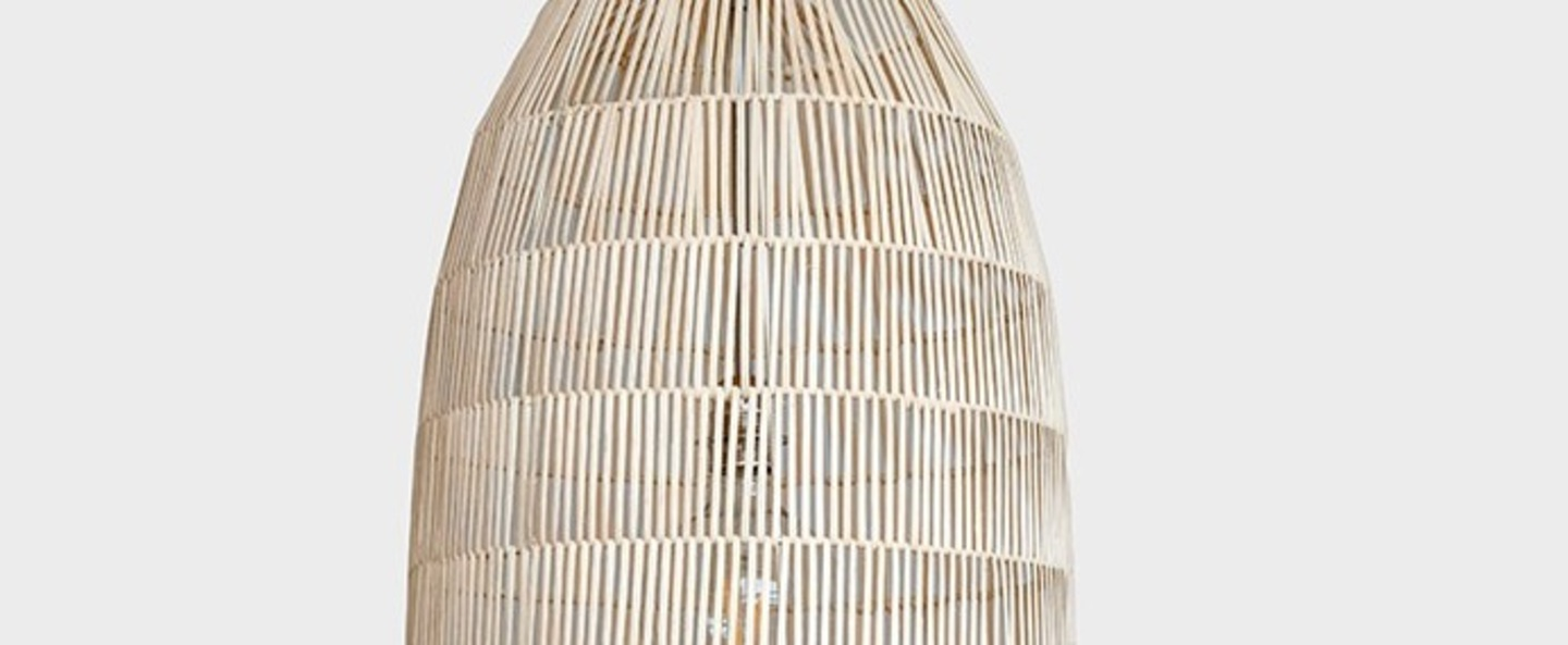Suspension pickle natural large naturel o40cm h106cm ay illuminate normal