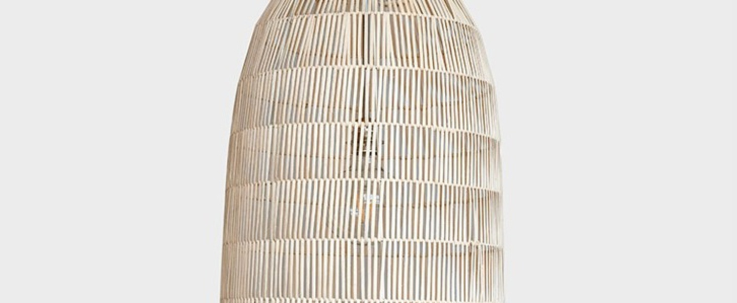 Suspension pickle natural medium naturel o39cm h88cm ay illuminate normal