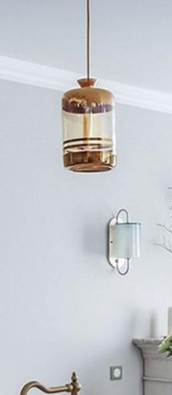 Suspension pillar transparent or o19cm h32cm ebb and flow normal