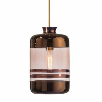 Suspension pillar verre souffle cuivre transparent h32cm ebb and flow normal