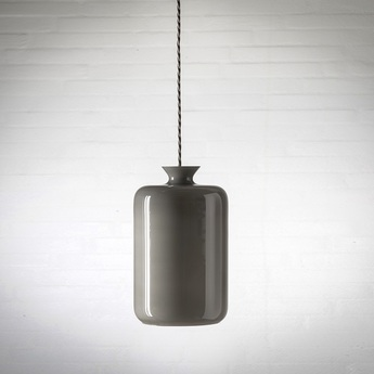 suspension pillar verre souffl cuivre transparent h32cm ebb and flow luminaires nedgis. Black Bedroom Furniture Sets. Home Design Ideas