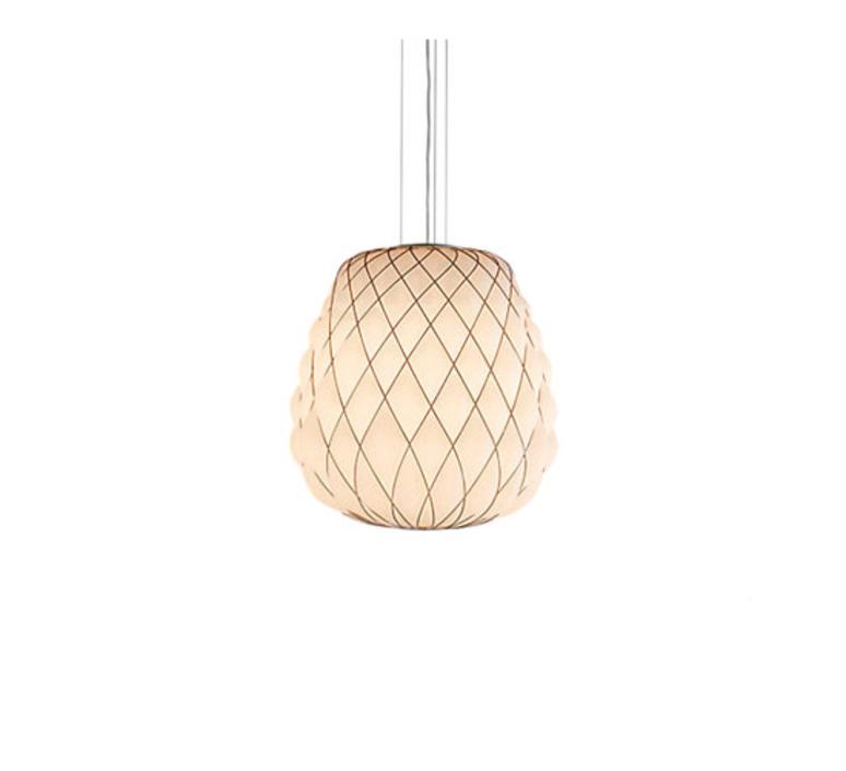 Pinecone paola navone suspension pendant light  fontana arte 4363bi blanc chrome  design signed nedgis 65714 product
