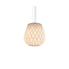 Pinecone paola navone suspension pendant light  fontana arte 4363bi blanc chrome  design signed nedgis 65714 thumb