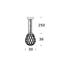 Pinecone paola navone suspension pendant light  fontana arte 4363bi blanc chrome  design signed nedgis 65715 thumb