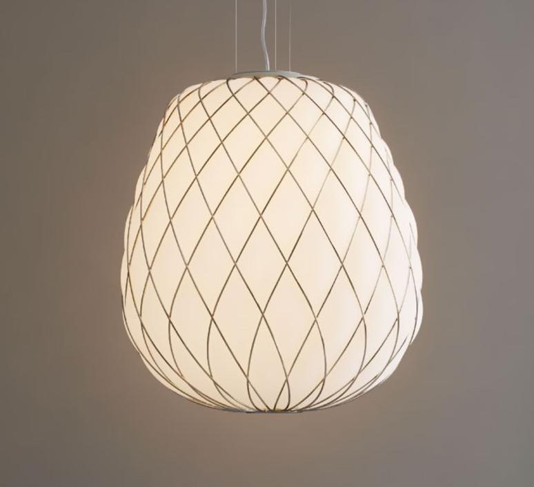 Pinecone paola navone suspension pendant light  fontana arte 4363bi blanc chrome  design signed nedgis 65717 product