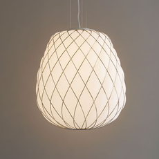 Pinecone paola navone suspension pendant light  fontana arte 4363bi blanc chrome  design signed nedgis 65717 thumb