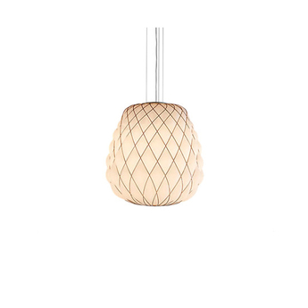Suspension pinecone blanc chrome o30cm h36cm fontana arte normal