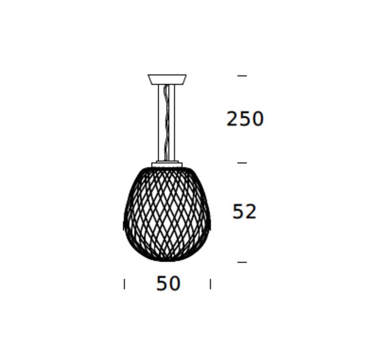 Pinecone paola navone suspension pendant light  fontana arte 4339bi blanc chrome  design signed nedgis 65705 product