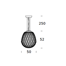 Pinecone paola navone suspension pendant light  fontana arte 4339bi blanc chrome  design signed nedgis 65705 thumb