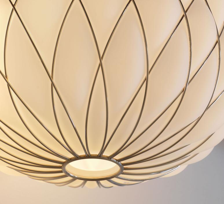 Pinecone paola navone suspension pendant light  fontana arte 4339bi blanc chrome  design signed nedgis 65708 product