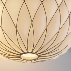 Pinecone paola navone suspension pendant light  fontana arte 4339bi blanc chrome  design signed nedgis 65708 thumb