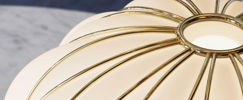 Suspension pinecone blanc or o50cm h52cm fontana arte normal