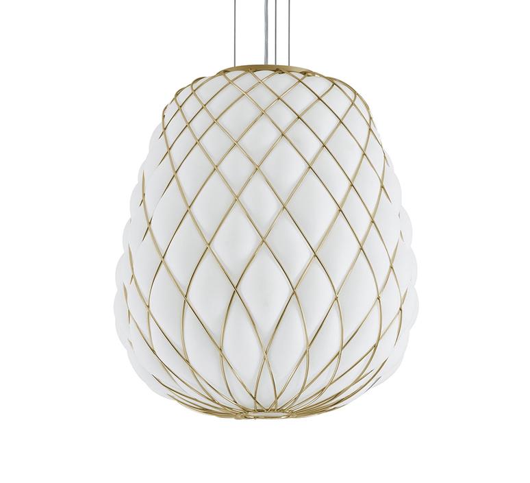 Pinecone paola navone suspension pendant light  fontana arte 4339oo bi blanc gold  design signed nedgis 65701 product