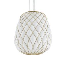 Pinecone paola navone suspension pendant light  fontana arte 4339oo bi blanc gold  design signed nedgis 65701 thumb
