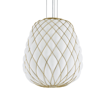 Suspension pinecone blanc or o50cm h52cm fontana arte normal