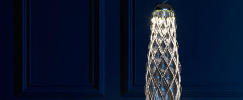 Suspension pinecone chrome led 2700 2120 o23cm h74cm fontana arte normal