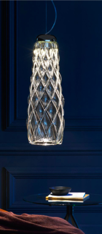 Suspension pinecone chrome led 2700 2120 o23cm h74cm fontana arte normal
