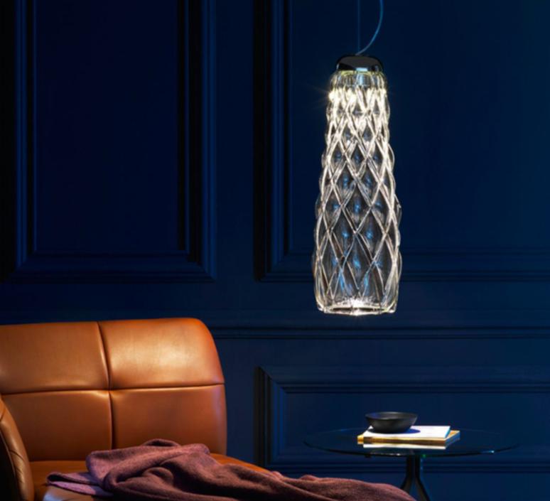 Pinecone paola navone suspension pendant light  fontana arte 4375tr chrome transparent  design signed nedgis 65695 product