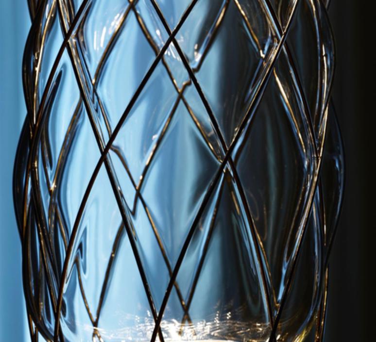 Pinecone paola navone suspension pendant light  fontana arte 4375tr chrome transparent  design signed nedgis 65698 product