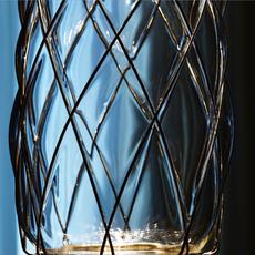 Pinecone paola navone suspension pendant light  fontana arte 4375tr chrome transparent  design signed nedgis 65698 thumb