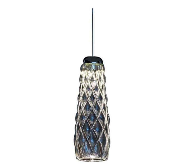 Pinecone paola navone suspension pendant light  fontana arte 4375tr chrome transparent  design signed nedgis 65700 product