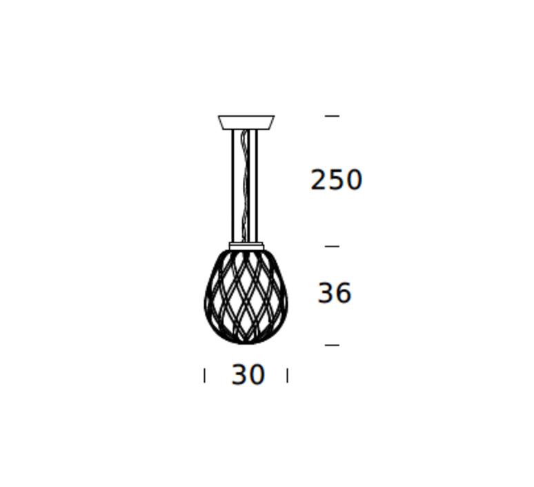 Pinecone paola navone suspension pendant light  fontana arte 4363tr chrome transparent  design signed nedgis 65711 product