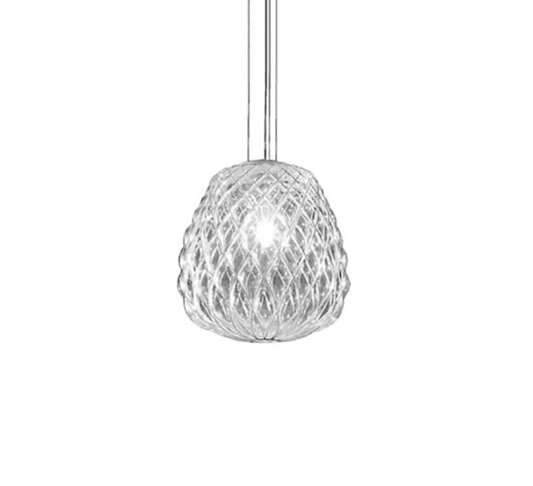 Pinecone paola navone suspension pendant light  fontana arte 4363tr chrome transparent  design signed nedgis 65712 product