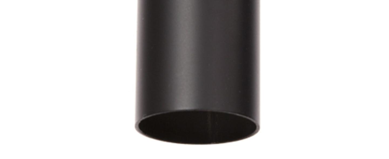 Suspension pipe one noir led o3 5cm h40cm norr11 normal
