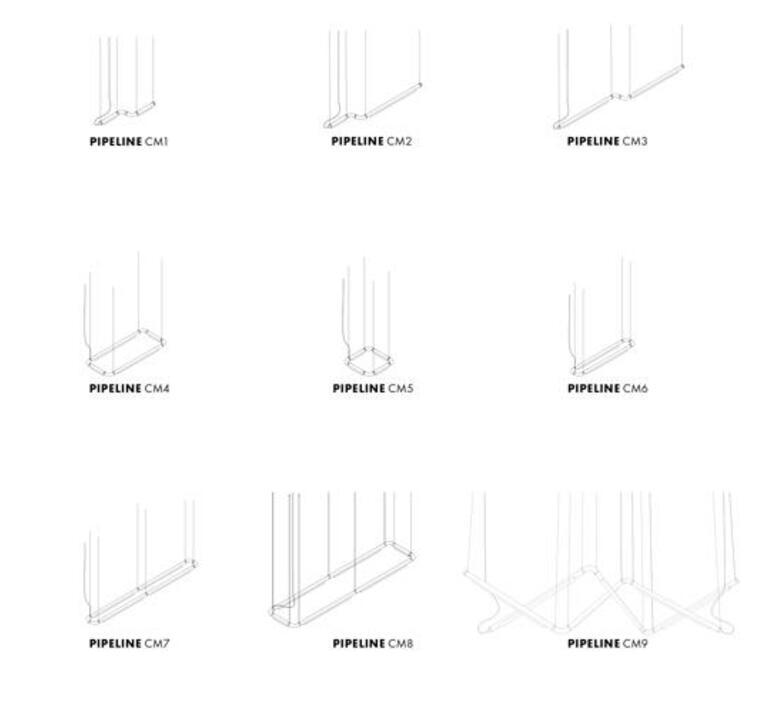 Pipeline cm3 dali  caine heintzman suspension pendant light  andlight pip cm3 p bk 27 dal 230  design signed nedgis 90642 product