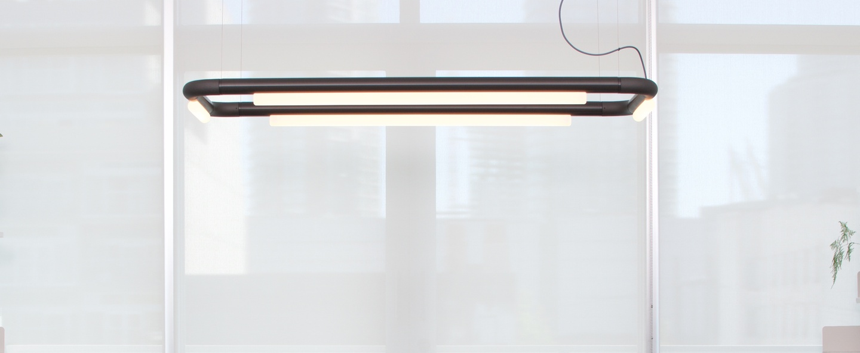 Suspension pipeline cm4 dali noir led 2700k 1760lm l146cm h62cm andlight normal