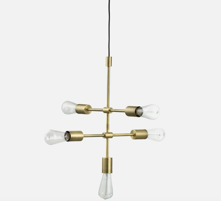 Piper 5 bras  suspension pendant light  bolia 20 108 03  design signed 39392 product