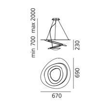 Pirce giuseppe maurizio scutella  suspension pendant light  artemide  1254w10a  design signed 35289 thumb