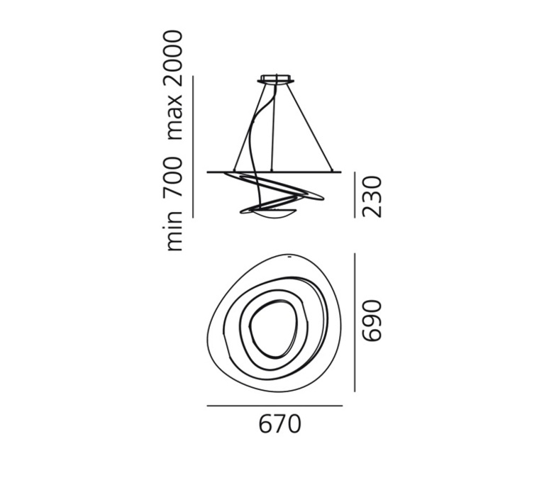 Pirce mini giuseppe maurizio scutella  suspension pendant light  artemide 1256w10a  design signed 35303 product