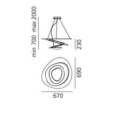 Pirce mini giuseppe maurizio scutella  suspension pendant light  artemide 1256w10a  design signed 35303 thumb